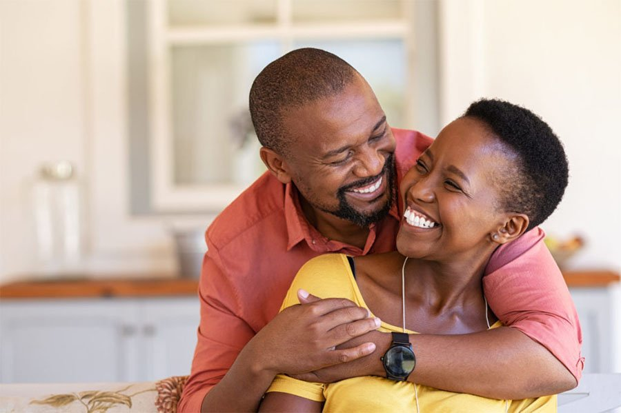 happy couple for marriage counseling article